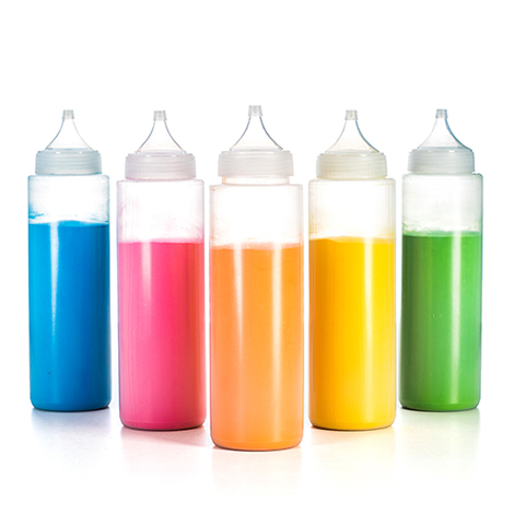 Knijpflessen kleurenpoeder